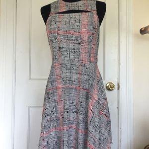 LUSH red & black geometric pattern dress size L